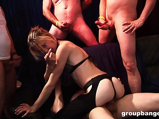 Nasty husband loves to share his slutty wife with his companions