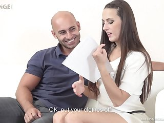 Pornstar auditions her fan and fitfully fucks his brains out