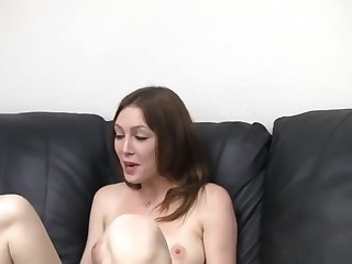 Young wife sucks juicy with the addition of takes cum