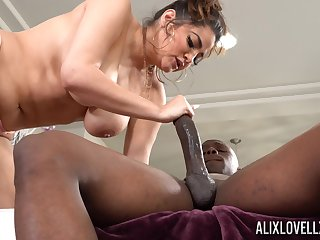 Monster dick in tight pussy of heavy pallid lady Alix Lovell