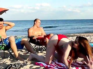 Old woman fucks boss' comrade's daughter threesome xxx Beach