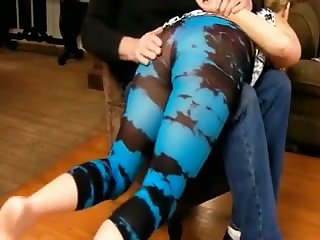 Some amazing over the knee bare bore spanking of my GF