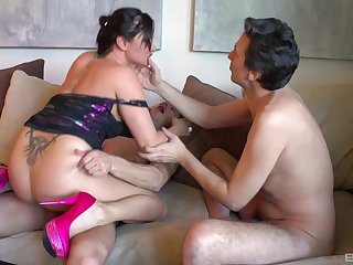 Aroused nurturer fucked apart from the resolution son with the addition of one of his Pty