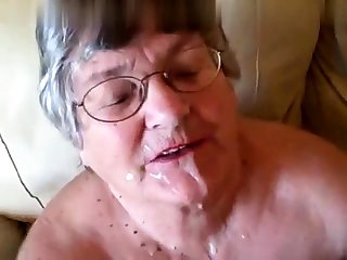 Unskilful girlfriend gives pov blowjob with facial