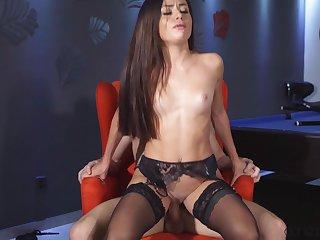 Stunning girlfriend Martina Smeraldi fucked on the pool table