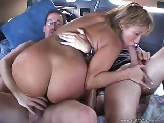 Car Gangbang and double penetration