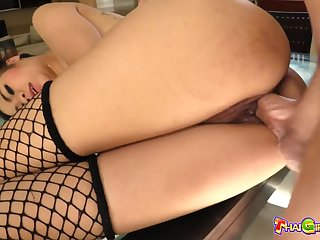 Real Thai cowgirl with tattooed with respect to Nano does her best as she rides dick