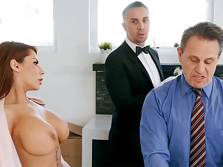Horny butler is reachable to anal light of one's life housewife