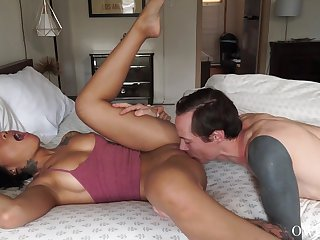 Addictive anal be fitting of be transferred to miniature Asian up be transferred to end of a long foreplay