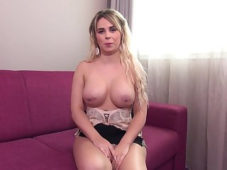 Casting Couch Of A Luring Chubby Titted Amateur