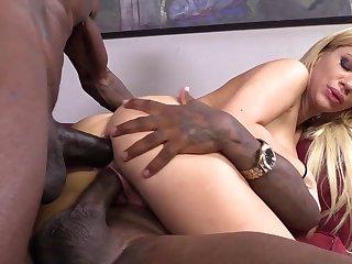 Big Black Cocks Double Penetrate White honey's PMV Comp - Anal